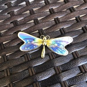 Vintage Colorful Butterfly Pin